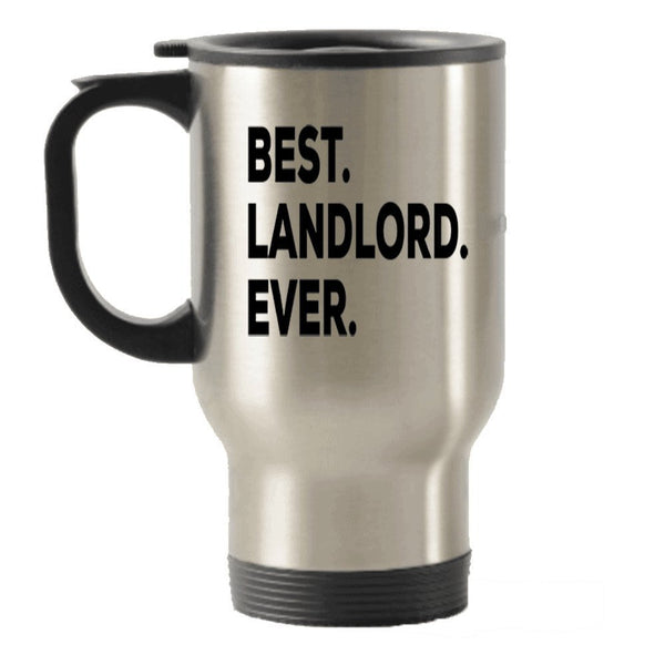 Landlord Travel Mug - Best Landlord Ever Travel Insulated Tumblers - Gifts For Landlords - Funny Inexpensive Present - Or Can Add To Gift Bag Basket Box Set - Novelty Tea Hot Chocolate