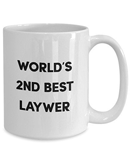 World's 2nd Best Lawyer Mug - Funny Tea Hot Cocoa Coffee Cup - Novelty Birthday Christmas Anniversary Gag Gifts Idea