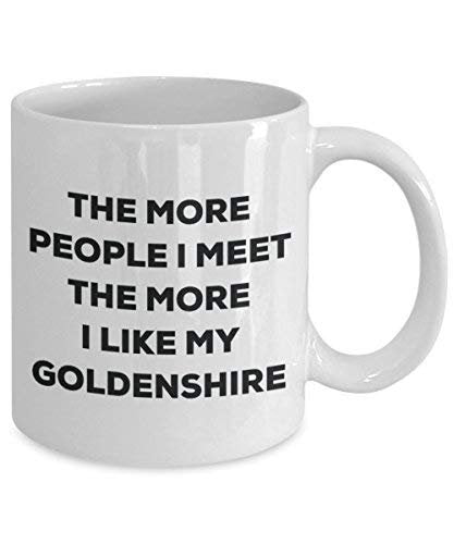 The More People I Meet The More I Like My Goldenshire Mug - Funny Coffee Cup - Christmas Dog Lover Cute Gag Gifts Idea