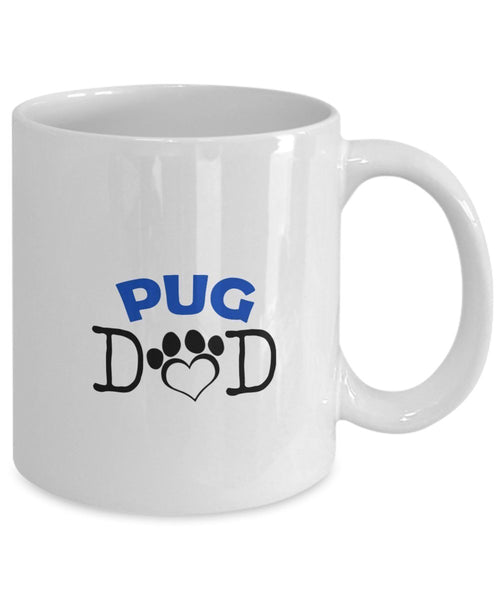 Funny Pug Couple Mug - Pug Dad - Pug Mom - Pug Lover Gifts - Unique Ceramic Gifts Idea (Mom)