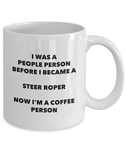 Steer Roper Coffee Person Mug - Funny Tea Cocoa Cup - Birthday Christmas Coffee Lover Cute Gag Gifts Idea