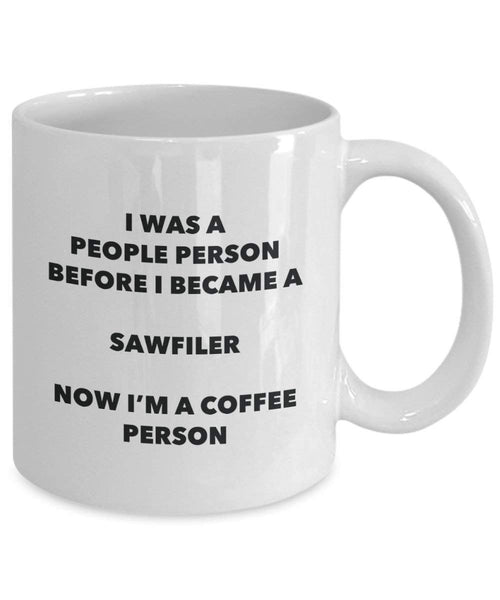 Sawfiler Coffee Person Mug - Funny Tea Cocoa Cup - Birthday Christmas Coffee Lover Cute Gag Gifts Idea