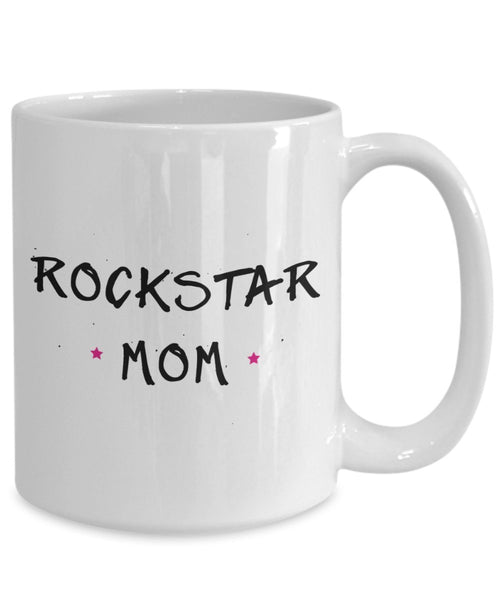 Mom Rockstar Mug- Funny Tea Hot Cocoa Coffee Cup - Novelty Birthday Christmas Anniversary Gag Gifts Idea