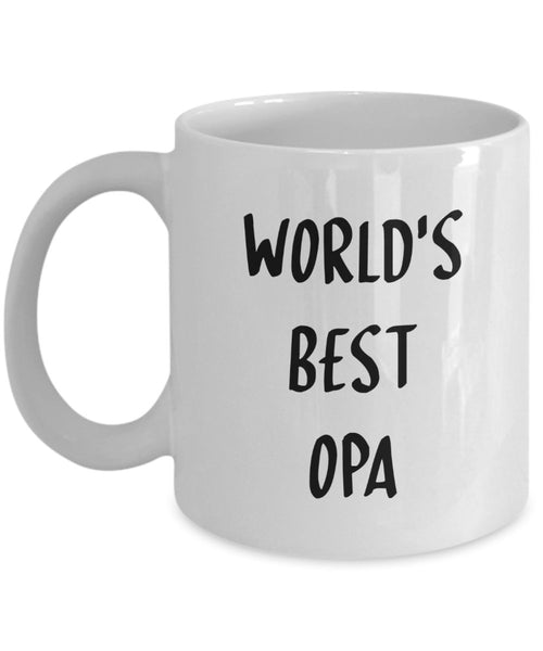 World's Best Opa Mug - Funny Tea Hot Cocoa Coffee Cup - Novelty Birthday Christmas Anniversary Gag Gifts Idea