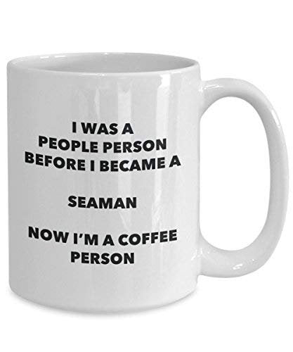 Seaman Coffee Person Mug - Funny Tea Cocoa Cup - Birthday Christmas Coffee Lover Cute Gag Gifts Idea