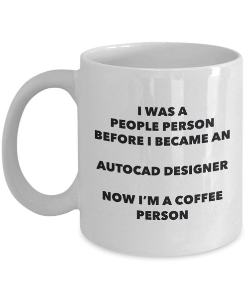 Autocad Designer Coffee Person Mug - Funny Tea Cocoa Cup - Birthday Christmas Coffee Lover Cute Gag Gifts Idea