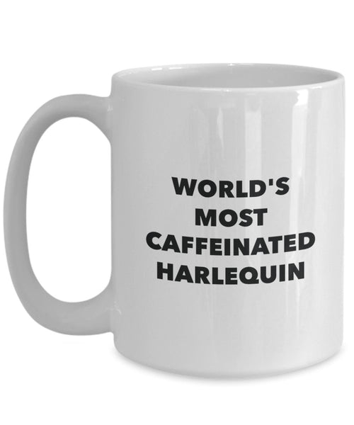 World's Most Caffeinated Harlequin Mug - Funny Tea Hot Cocoa Coffee Cup - Birthday Christmas Anniversary Gag Gifts Idea