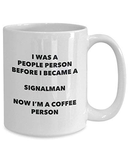 Signalman Coffee Person Mug - Funny Tea Cocoa Cup - Birthday Christmas Coffee Lover Cute Gag Gifts Idea