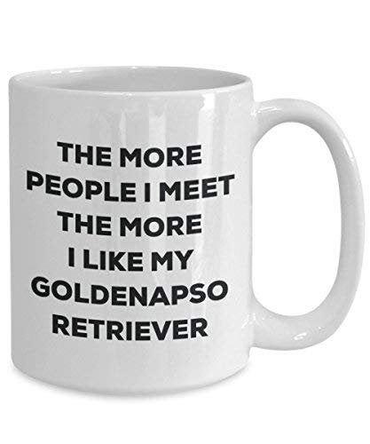The More People I Meet The More I Like My Goldenapso Retriever Mug - Funny Coffee Cup - Christmas Dog Lover Cute Gag Gifts Idea