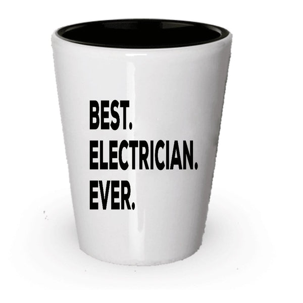Electrician Shot Glass - Electricians Gifts - Funny Gag Gift - For Men Or Women - Perfect Birthday Christmas Unique Gift Ideas - Cool Master Apprentice Electrician Retired Retirement Presents - (6)