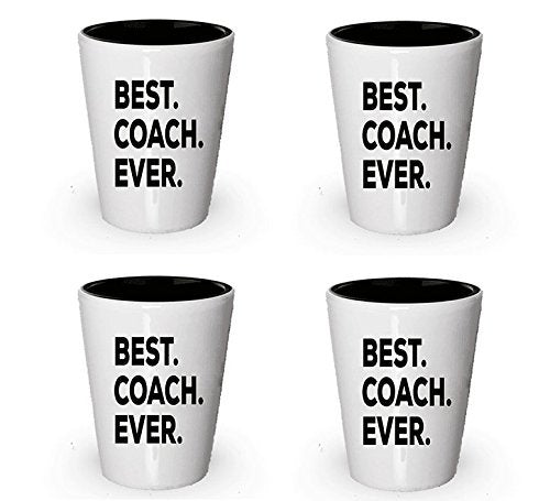 Coach Gifts - Coach Shot Glass - Best Coach Ever - Coaches Gifts For Women Men - For Bag Box Set Coaching - Thanks Coach Ideas - Appreciation Thank You 1 Great - Funny Gag - Put On Desk (4)