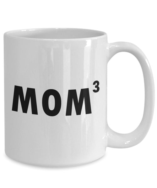 Mom Cubed Mug - Funny Tea Hot Cocoa Coffee Cup - Novelty Birthday Christmas Anniversary Gag Gifts Idea