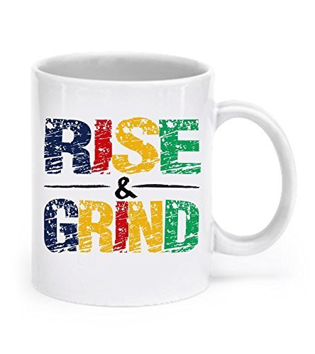 Rise and Grind Mug - Rise & Grind - Rise And Grind Coffee Mug - Workout Coffee Mugs - Workout Mug