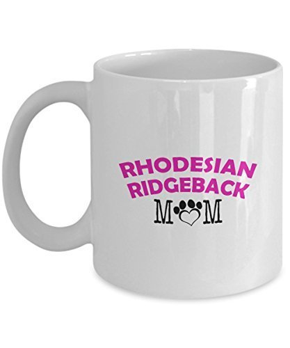 Funny Rhodesian Ridgeback Couple Mug - Rhodesian Ridgeback Dad - Rhodesian Ridgeback Mom - Rhodesian Ridgeback Lover Gifts - Unique Ceramic Gifts Idea (Mom)
