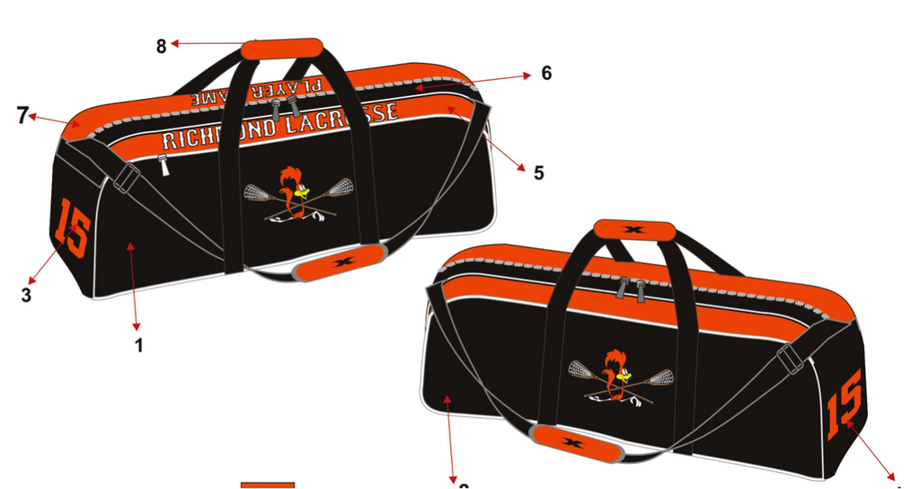Fully Sublimated Lacrosse Gear Bag