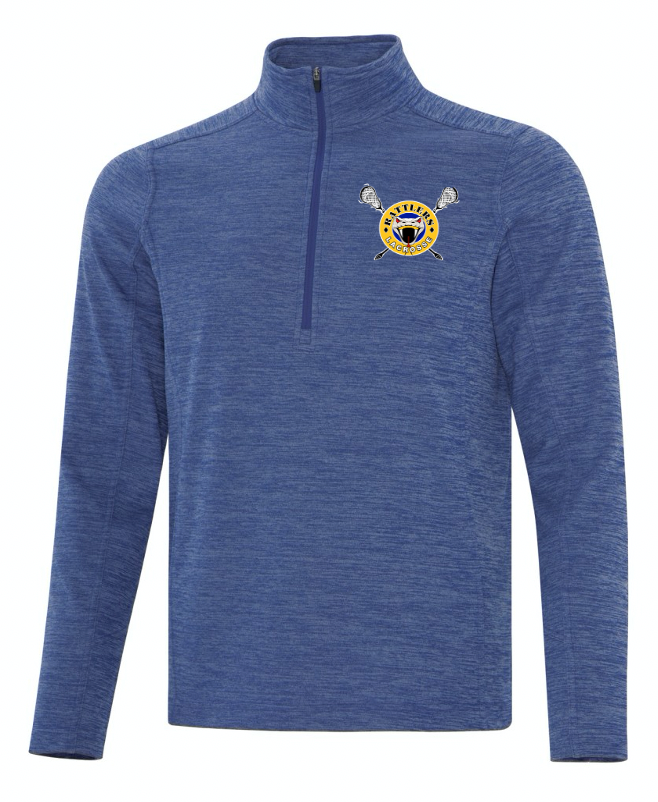 ATC Heathered Fleece 1/2 Zip Sweatshirt - Embroidery