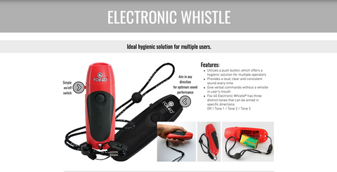 NEW!!!   Fox 40 Electronic 3-Tone Whistle
