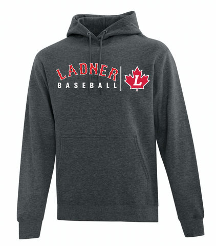 Dark Heather Grey ATC Cotton Fleece Hooded Sweatshirt