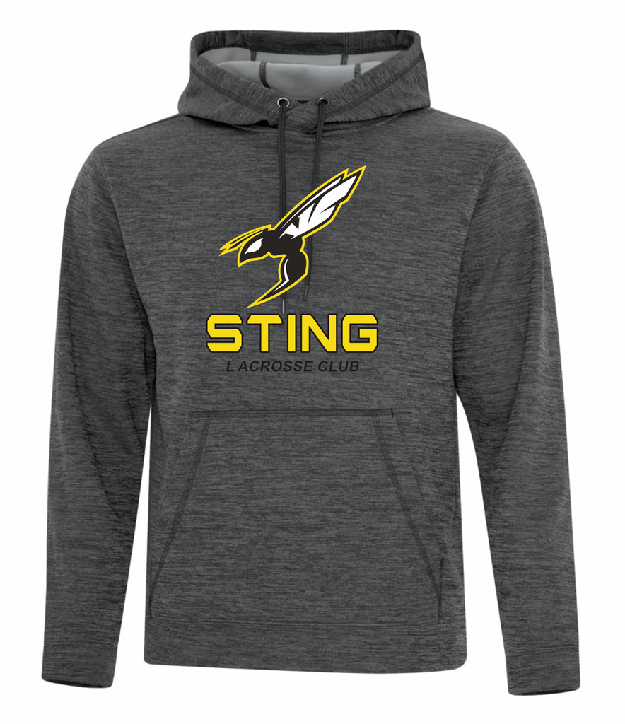 Sting Charcoal Dynamic Heather Fleece Performance Hoodie - Screen Print