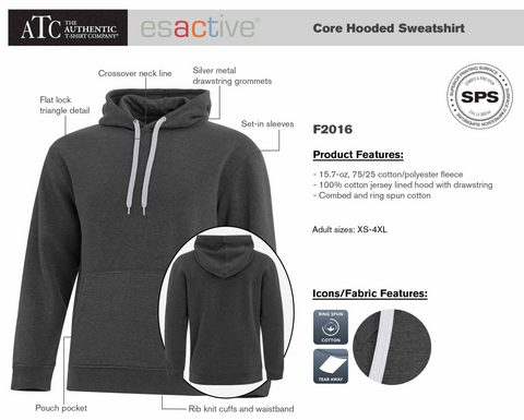 Port Moody Fire Dept - ESACTIVE® CORE HOODED SWEATSHIRT