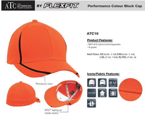 ATC Flex Fit Performance Hat With Embroidery - Adult