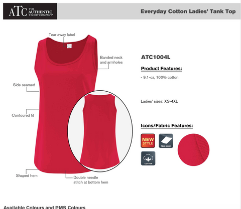 ATC Womens Tank Top - Red