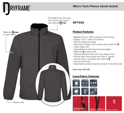 Dry Frame Micro Tech Fleece Lined Jacket