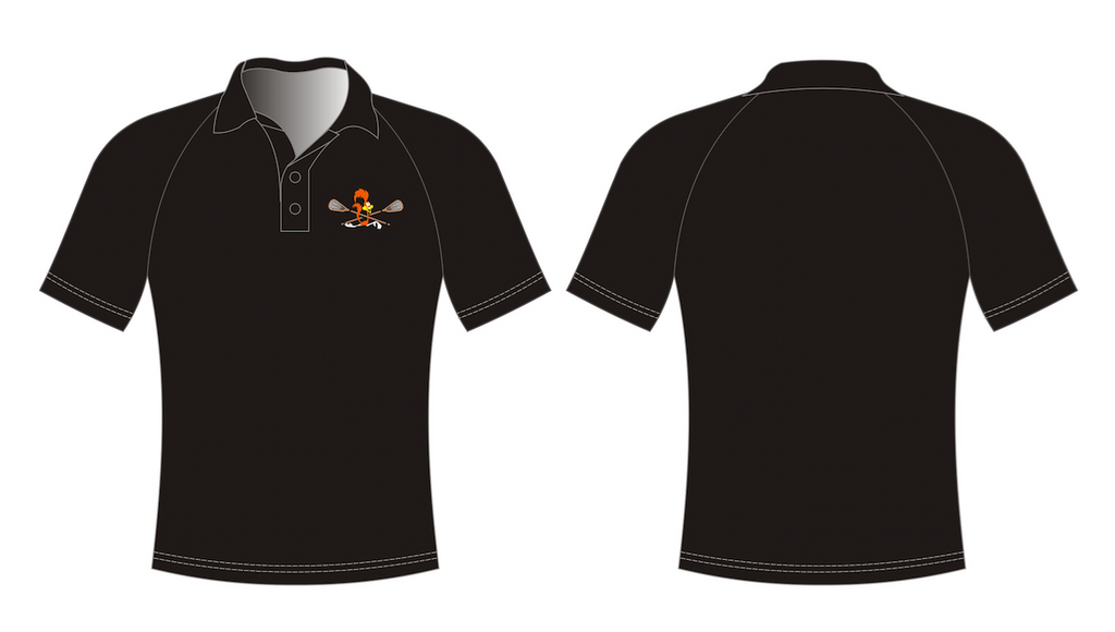 Black Dry Fit Golf Shirt - With Embroidery