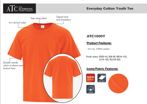 ATC Youth Cotton T-Shirt With Screen Print
