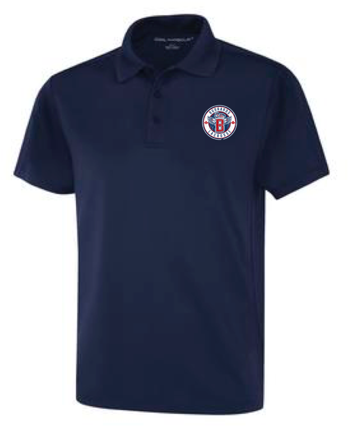 Navy Dry Fit Golf Shirt - With Embroidery