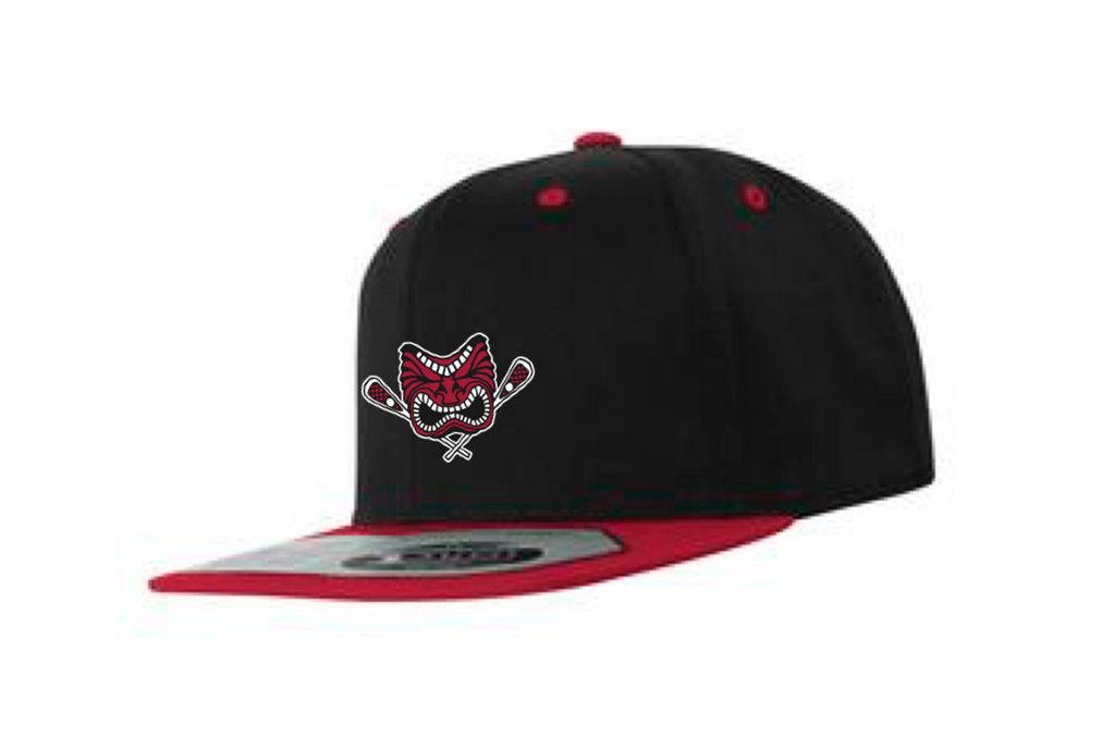 Black/Red Flex Fit Snap Back Hat