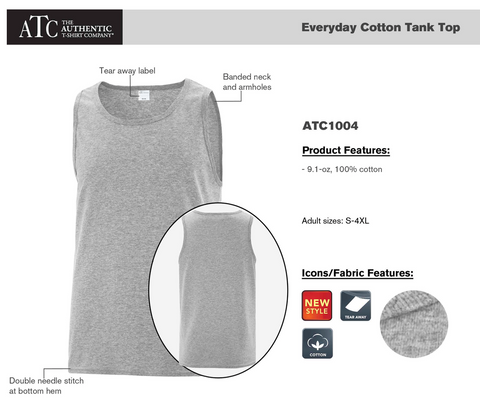 ATC Mens Tank Top - Black