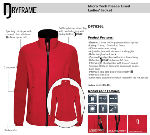 Dry Frame Micro Tech Fleece Lined Jacket - Womens