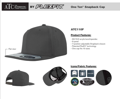 Flexfit Flat Bill/Snapback Hat - Embroidery