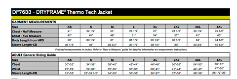Dry Frame Thermo Tech Jacket - with embroidery
