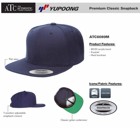 Dark Heather - YUPOONG Premium Classic Snap Back