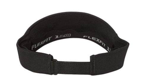 Black Flex Fit Visor - With Embroidery