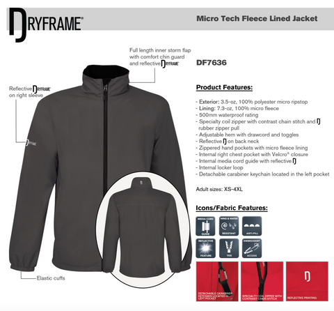 DRYFRAME® MICRO TECH FLEECE LINED JACKET With Embroidery