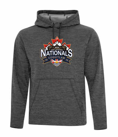 Charcoal Dynamic Heather Fleece Performance Hoodie - Screen Print