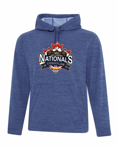True Royal Dynamic Heather Fleece Performance Hoodie - Screen Print