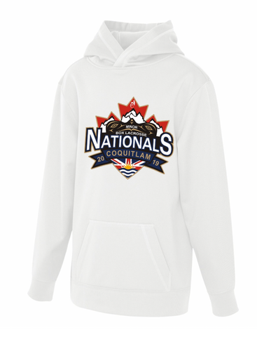 White ATC Dry Fit Performance Hoodie With Screen Print