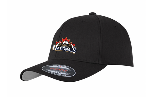 Black - Flexfit performance hat with embroidery