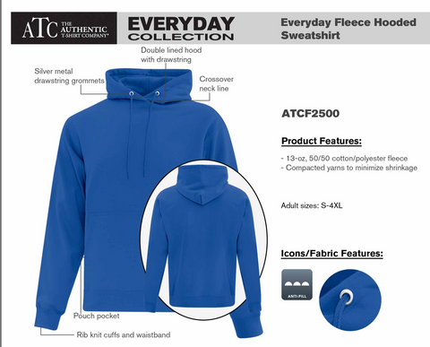 ATC Cotton Fleece Hooded Sweatshirt