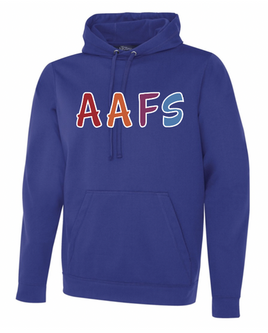 Blue ATC Dry Fit Performance Hoodie with Screen Print