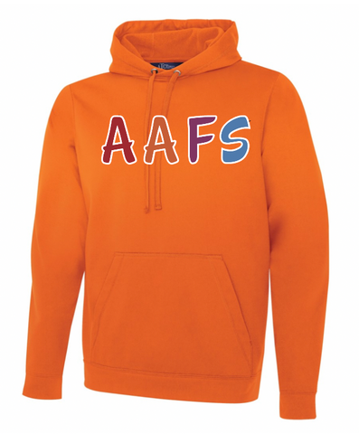 Orange ATC Dry Fit Performance Hoodie with Screen Print