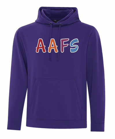 Purple ATC Dry Fit Performance Hoodie with Screen Print