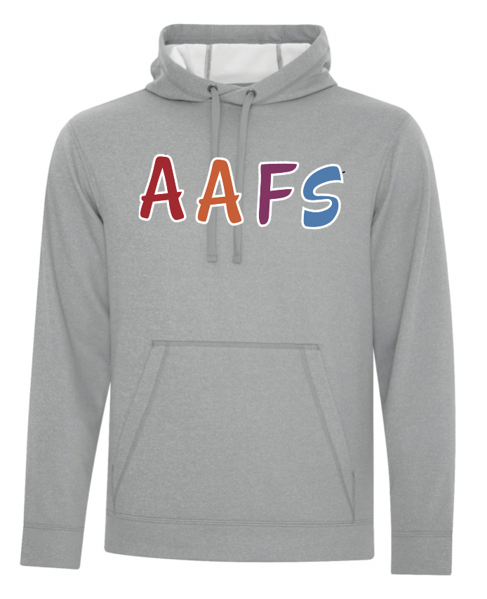 Grey ATC Dry Fit Performance Hoodie with Screen Print