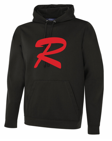 Black ATC Dry Fit Performance Hoodie with Screen Print