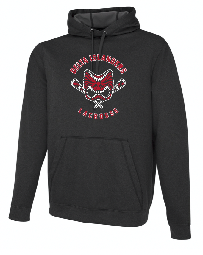 Charcoal Heather ATC Dry Fit Performance Hoodie with Screen Print