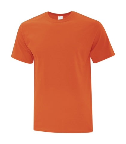ATC Cotton T-Shirt With Screen Print - Orange